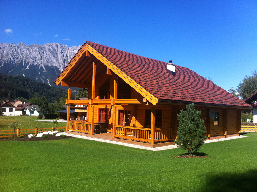 House is a project located in alpes this log house is a typical