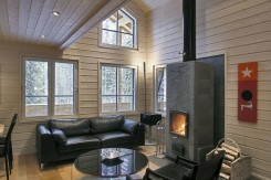 Inside a Finnish Wooden house: living room