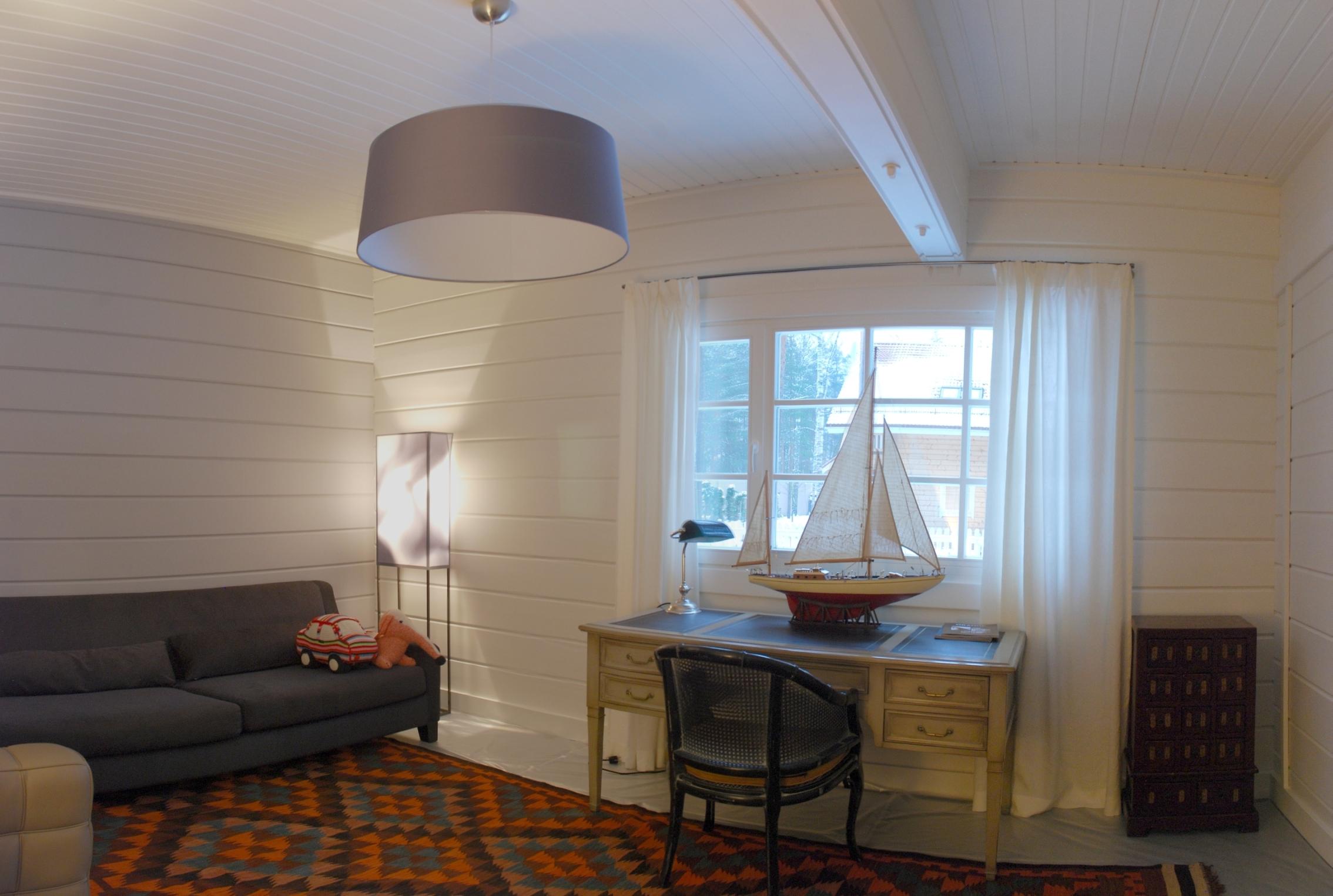 Inside a modern finnish wooden house