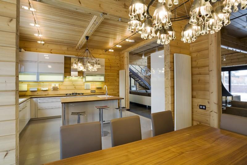 Design of a Finnish luxury log home / log house