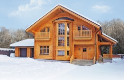 Modèle Scandinavia (Scandinavie) avec garage : maison en bois finlandaise moderne