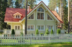 Model Swedish House : wooden home from Rovaniemi Log houses