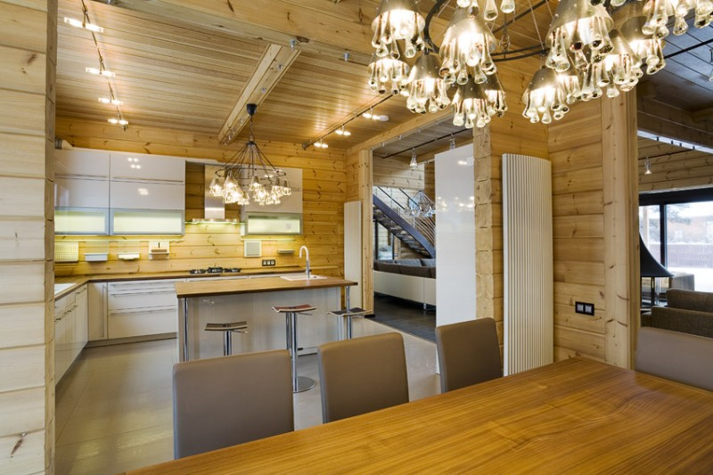 Ontwerp van een finse luxe logbouw woning ontwerp logbouw woning finland - Interieur van een huis ...