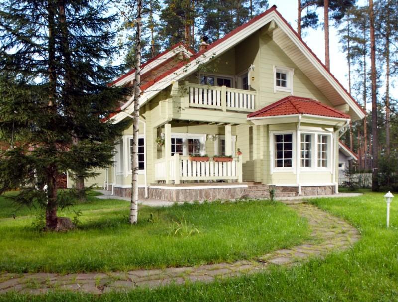 Lapland houten huis model lapland logbouw woning uit finland - Houten huis ...