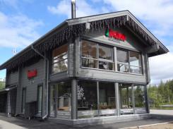 Les bureaux de Rovaniemi Maisons en Bois au Cercle Polaire, à Rovaniemi en Laponie finlandaise.