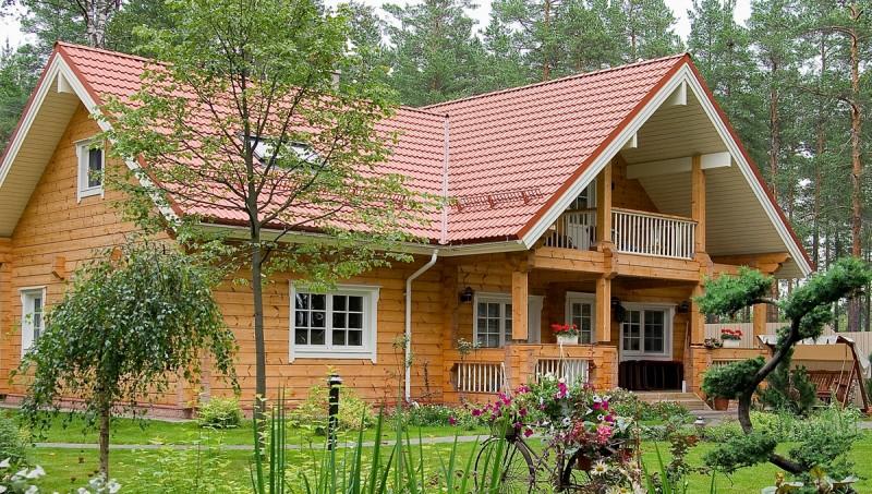 Villa de madera de origen finlandes casa de lujo de - Casas de madera balcan house ...
