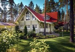 """Modelo """"Casa Sueca"""" – Familia casa de madera finlandés"""