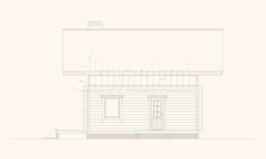 Atlas facade – Rovaniemi Log House
