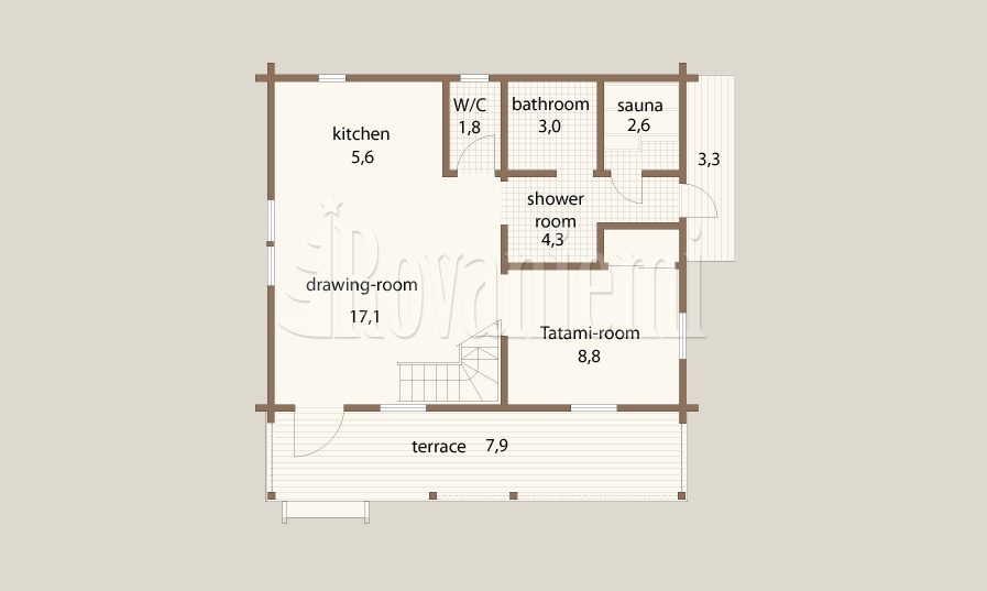 Atlas floor plan – Rovaniemi Log House