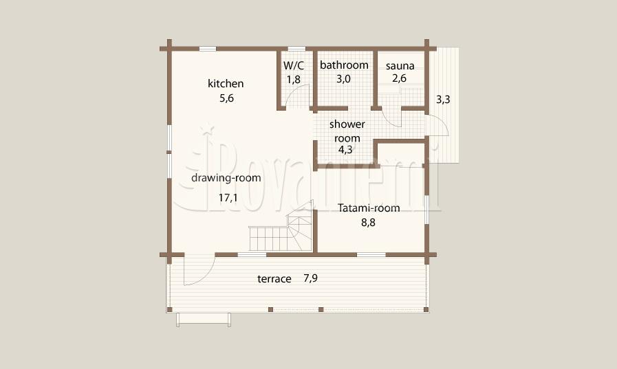 Atlas floor plan – Rovaniemi Log House