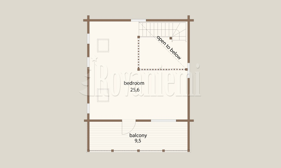 Azimuth floor plan by Rovaniemi Log House