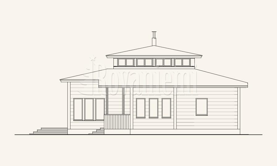 Charisma project's house facade – Rovaniemi Log House.