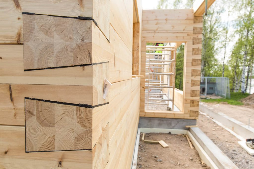 City corner is a new junction technology without overlapping, adapted to construction in urban environment. Wooden house by Rovaniemi Log House.