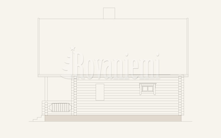 Comfort project's facade – Wooden house by Rovaniemi Log House