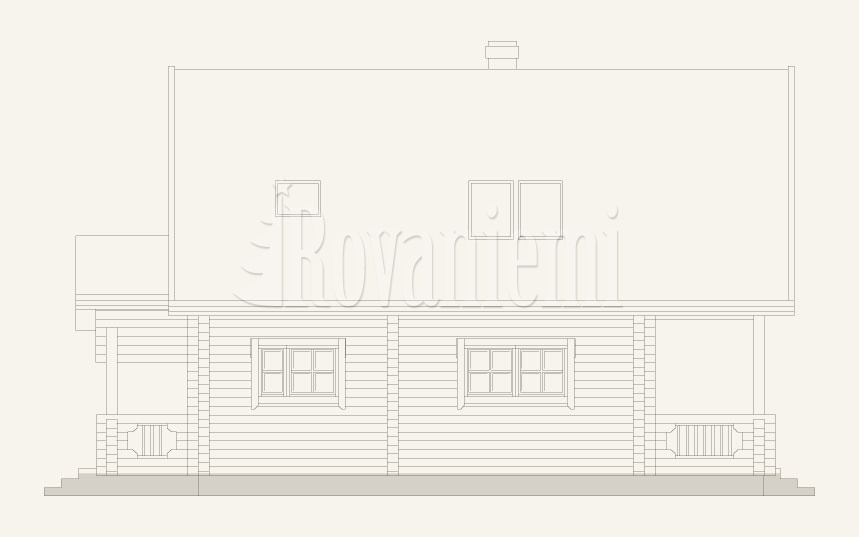 Country House facade by Rovaniemi Log House