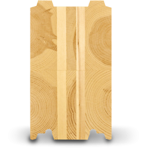 Cross-laminated log or SmartLog