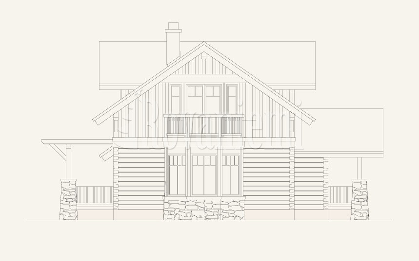 Jazz project's facade – Rovaniemi Log House