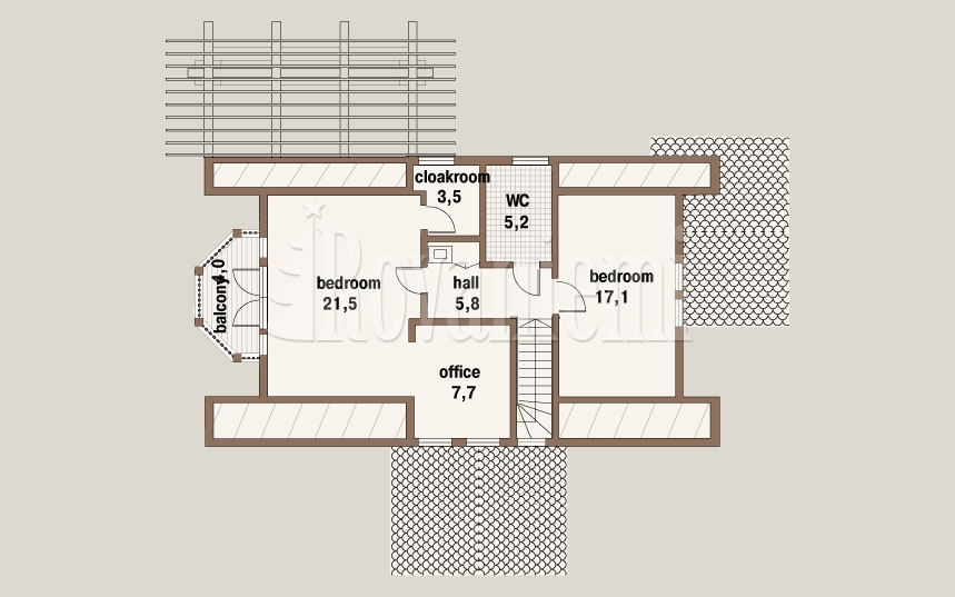 Jazz floor plan, 2nd floor – Rovaniemi Log House