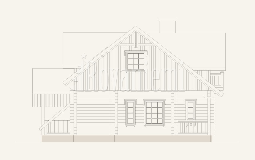 'Prestige' project facade – Rovaniemi Log house.