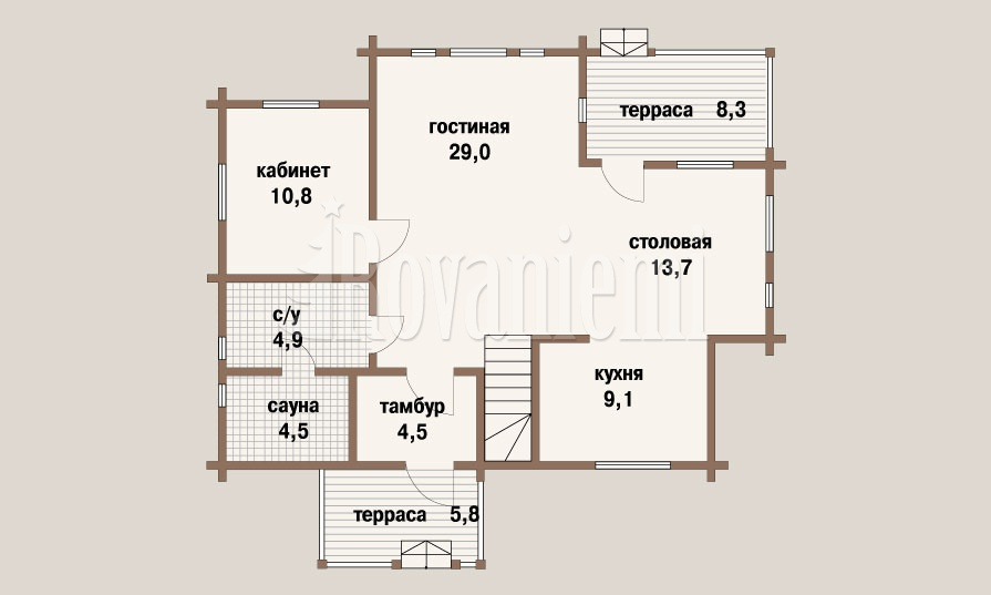 'Prestige' project floor plan – Rovaniemi Log house.