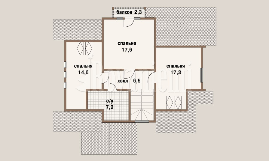 'Prestige' project floor plan – Rovaniemi Log house