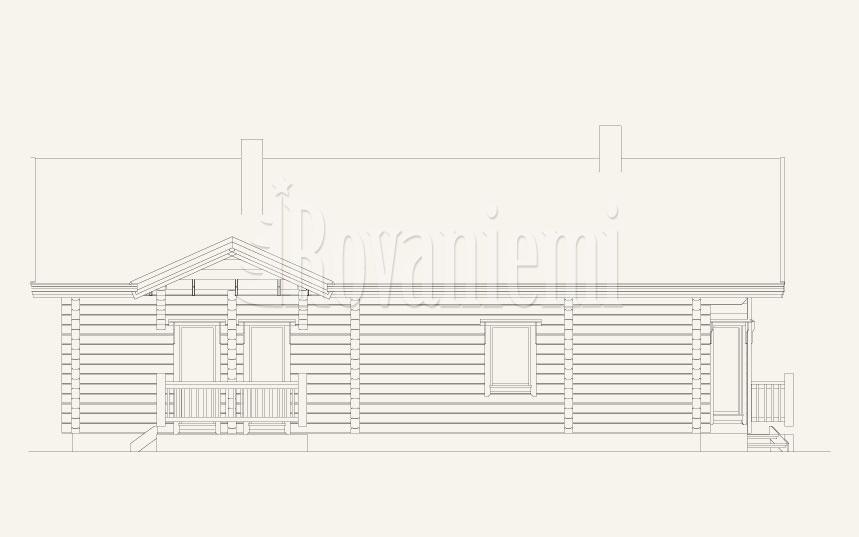 Sauna House facade –Rovaniemi Log House