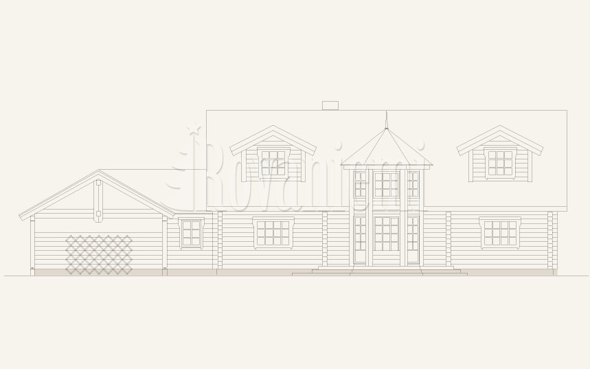 Arizona, facade – american inspired wooden cottage by Rovaniemi Log House.