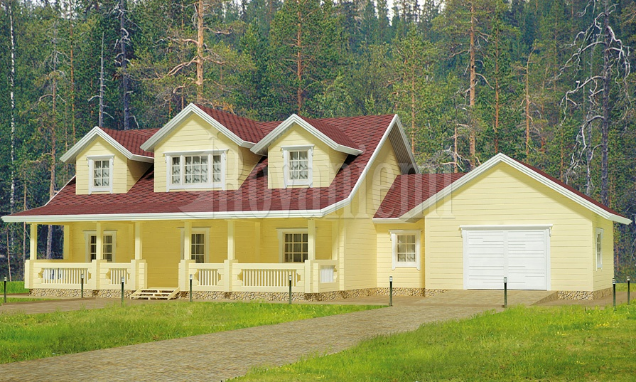 Arizona – american inspired wooden cottage by Rovaniemi Log House