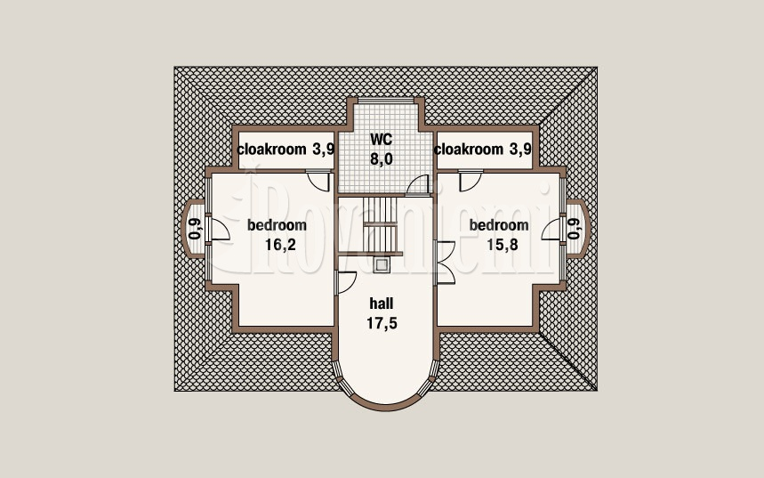 Caprice, project's floor plan, 2nd floor – by Rovaniemi Log House