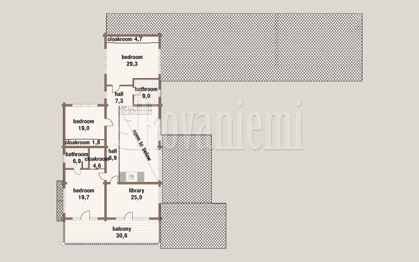 Harmony G floor plan, 2ndfloor –by Rovaniemi Log House