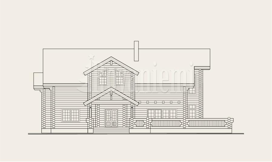 Helios, house's facade – Rovaniemi Log House