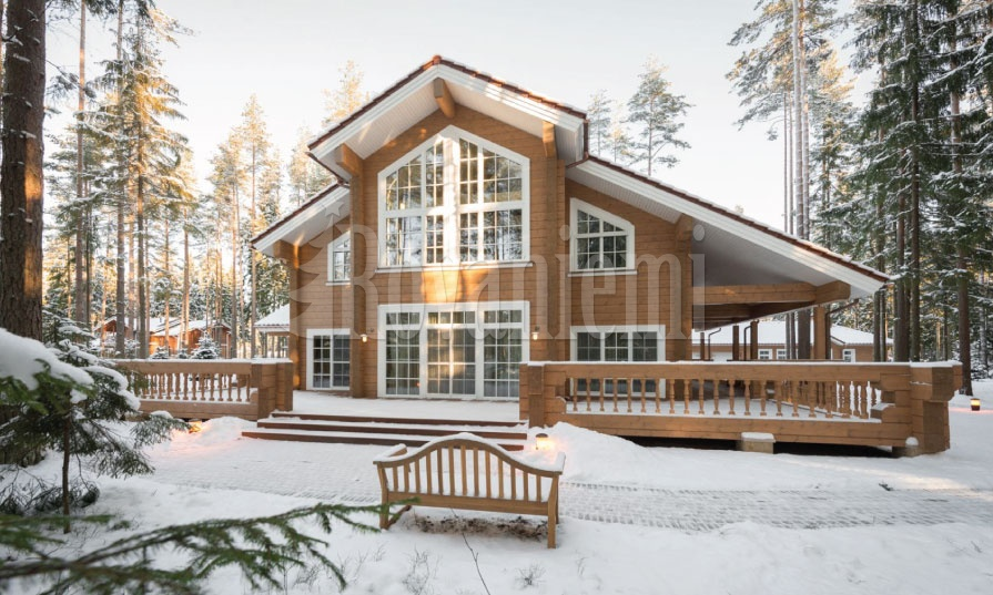 Helios – Luxurious modern wooden cottage by Rovaniemi Log House.