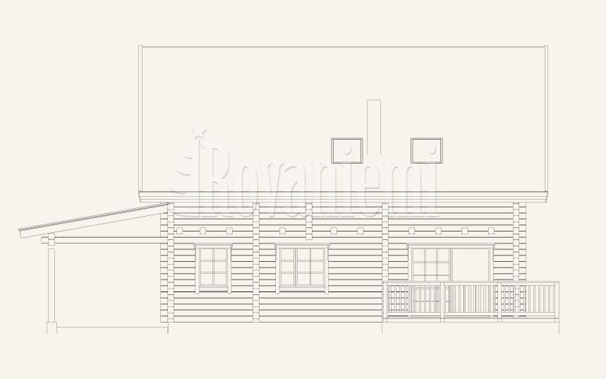Jana floor plan. classic wooden cottage by Rovaniemi Log House