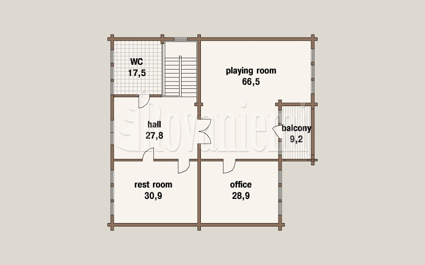 Kamchatka project's floor plan – ground floor – Rovaniemi Log House