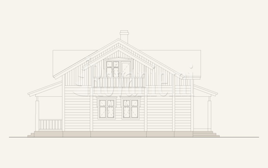 Karelia, project's facade – by Rovaniemi Log House