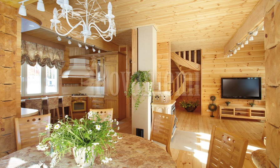 Karelia – comfortable family house, interior. By Rovaniemi Log House