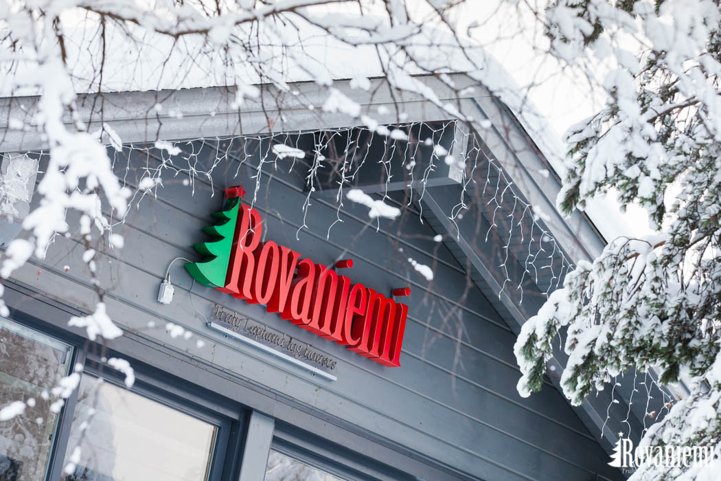 Rovaniemi Log House logo on our head office building Kieppi