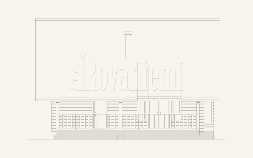Leader – project's facade – by Rovaniemi Log House