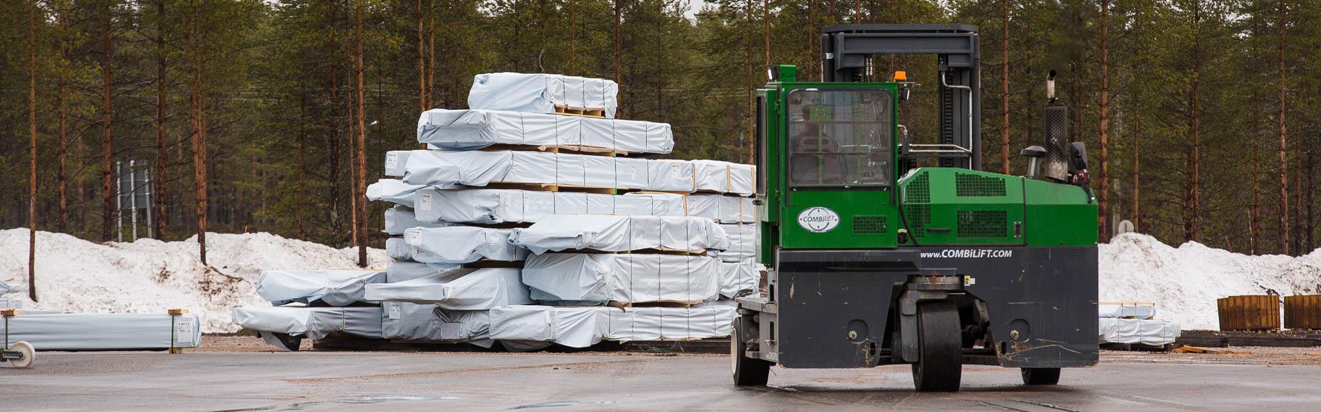 Een logbouw-woning van Rovaniemi - Overal in Europa geleverd