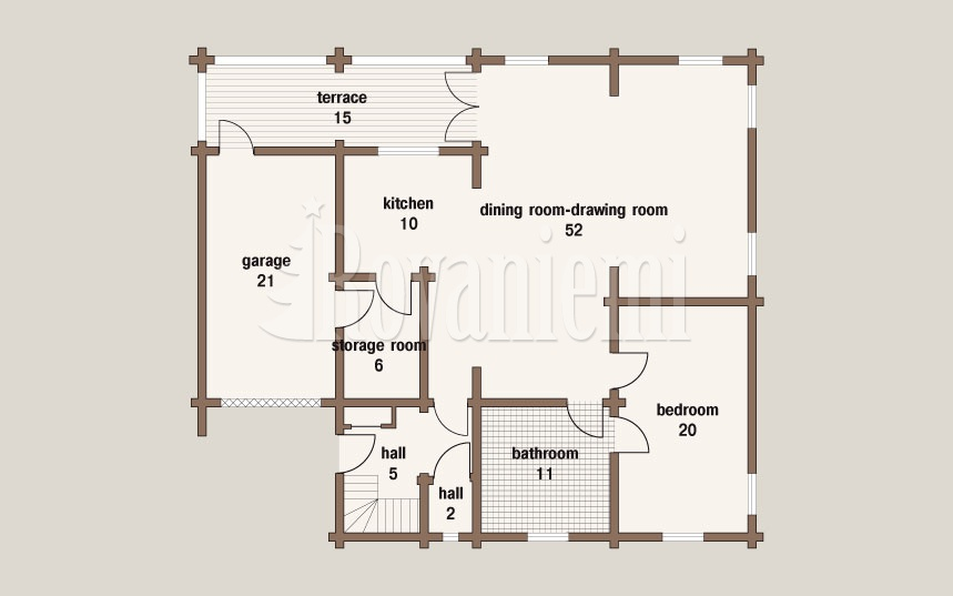 Nord - floor plan, 1st floor – Rovaniemi Log House