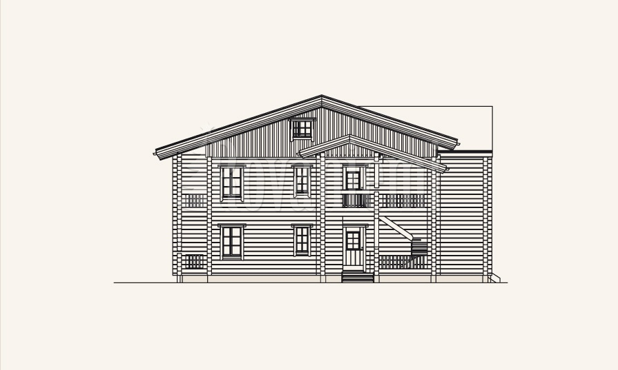 Northern Lights townhouse, project's facade – Rovaniemi Log House