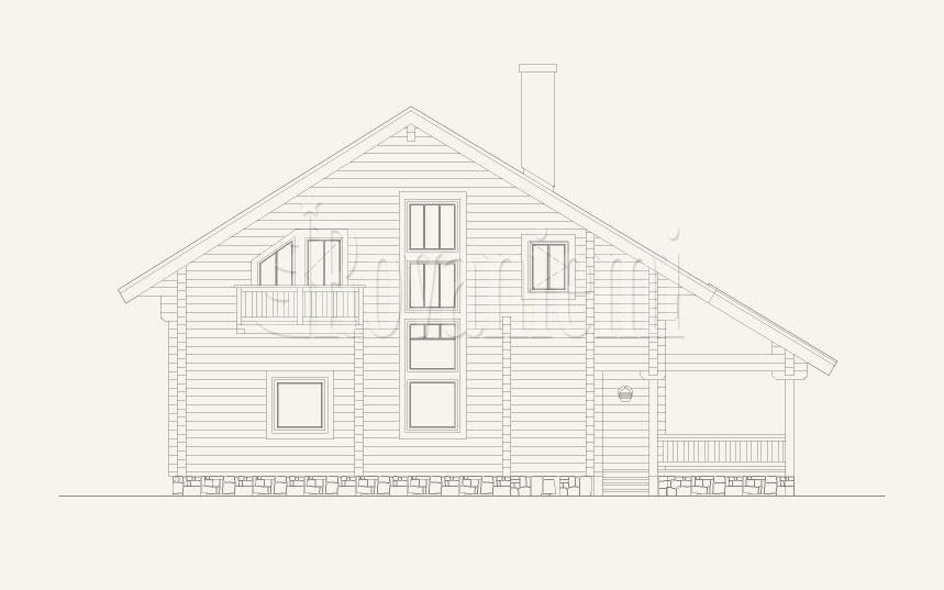 Scandinavia, project's facade – by Rovaniemi Log House