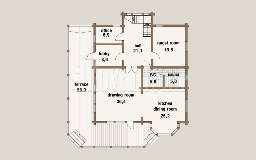 Scandinavia MK, project's floor plan, 1st floor