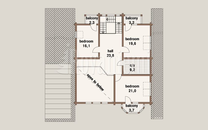 Scandinavia MK, project's floor plan, 2nd floor