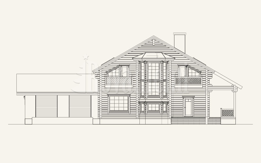 Scandinavia with a garage, project's facade