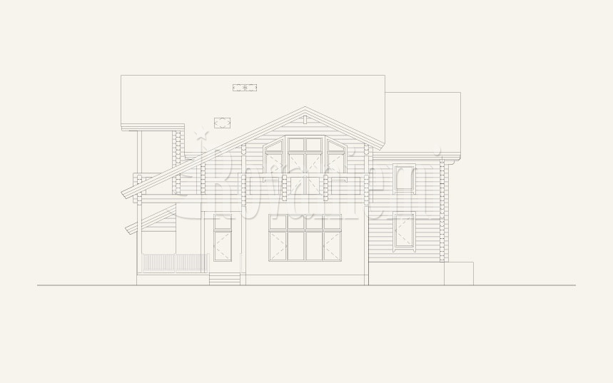 Sun House, facade photo – Rovaniemi Log House