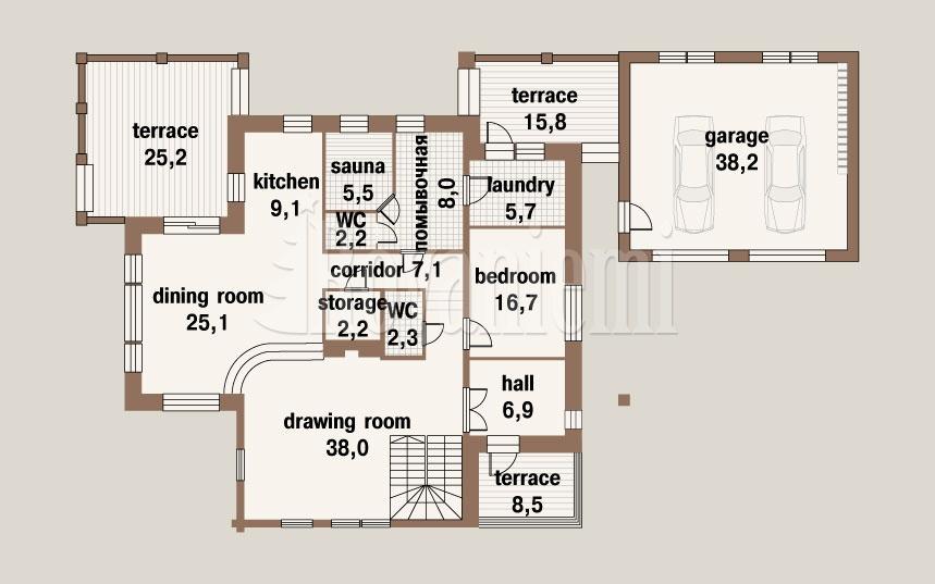 Sun House Floor Plan 1st Floor Rovaniemi Log House