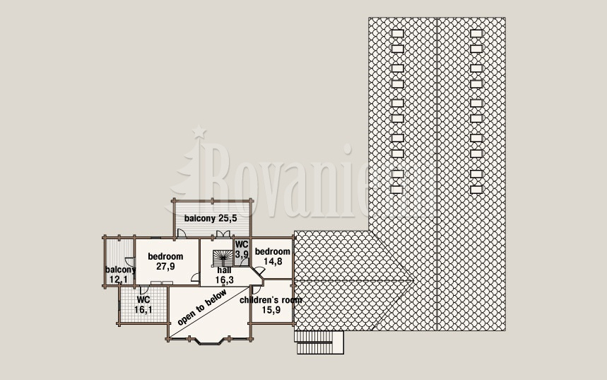 Switzerland, project's floor plan, ground floor –Rovaniemi Log House