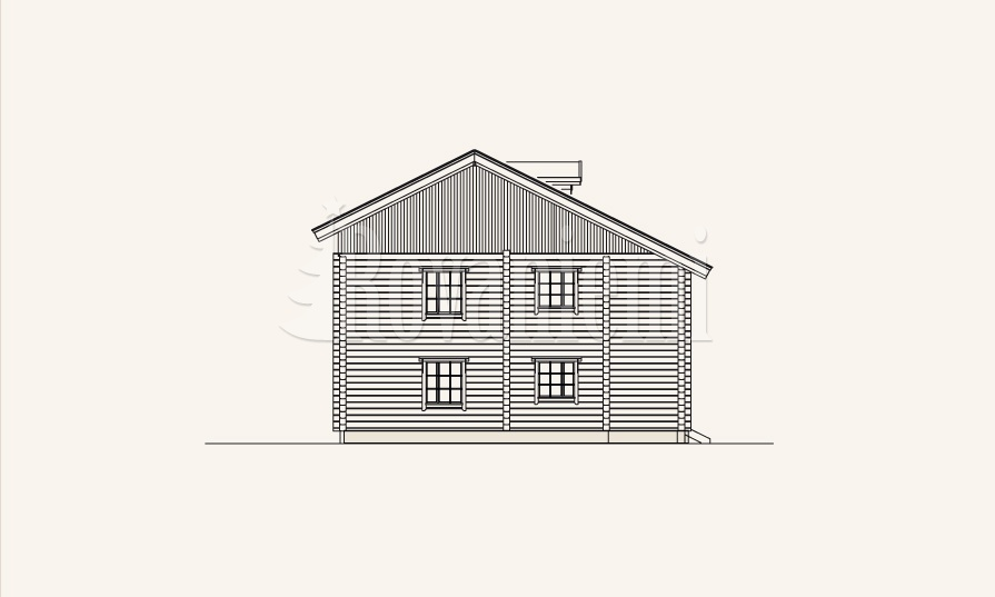 Symphony townhouse, facade drawing – Rovaniemi Log House
