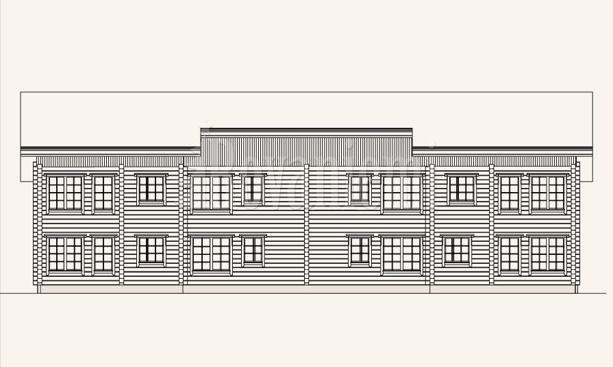 Symphony townhouse, facade drawing – Rovaniemi Log House